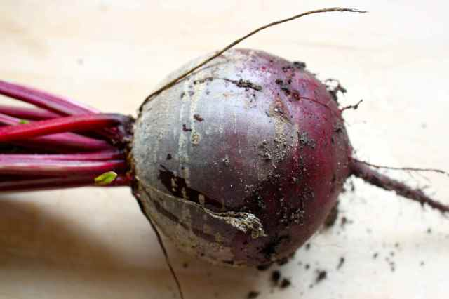 raw and dirty beetroot