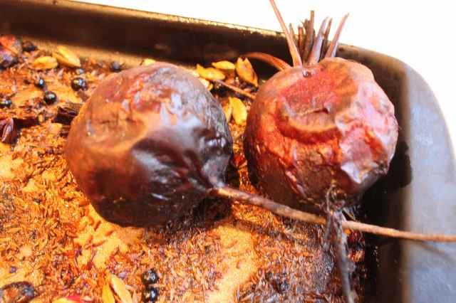 roasted beetroots