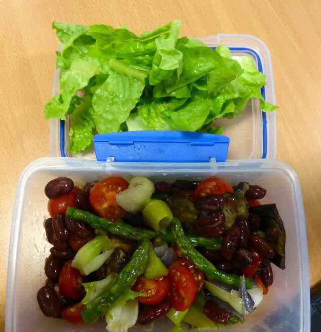 salad and roasted veg