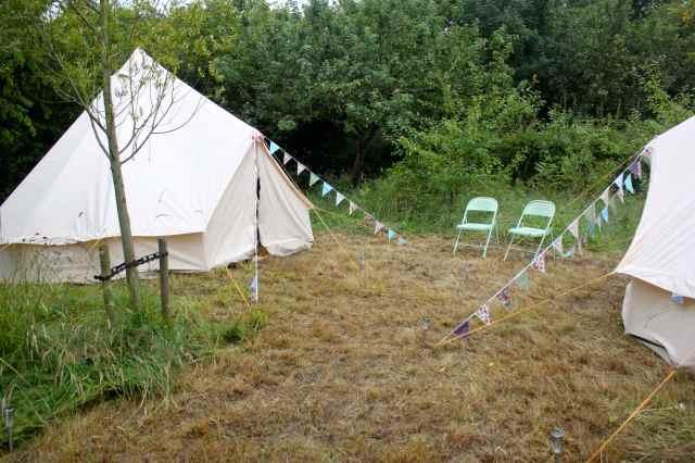 Tents in garden