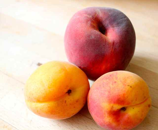 apricots and peach
