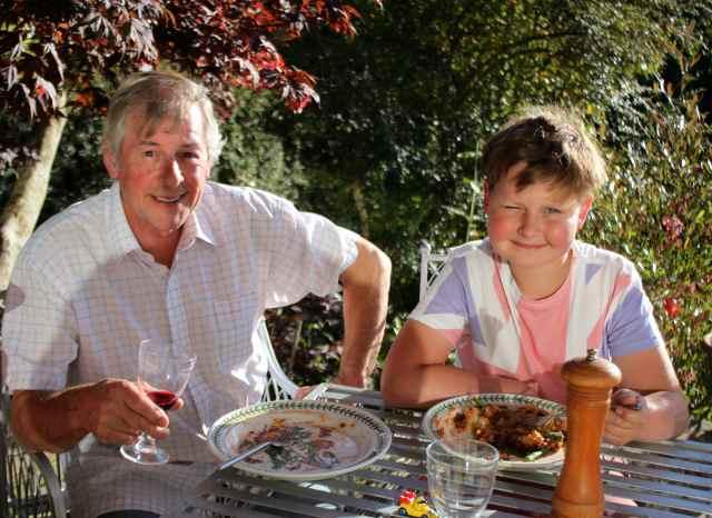 At Grandpa Ian's