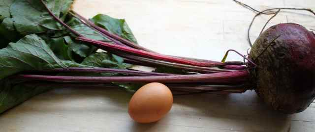 beetroot and egg
