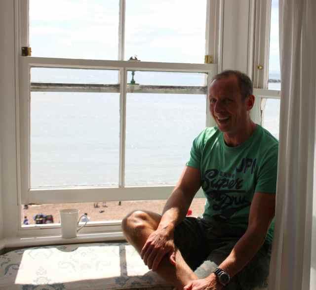 Chris in window seat