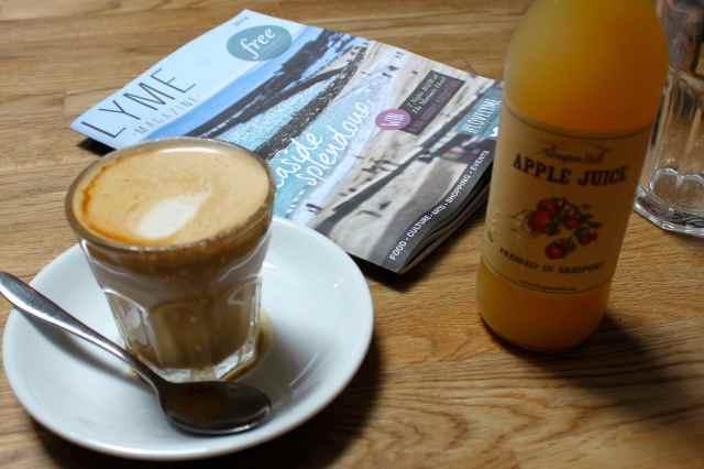 coffee and apple juice