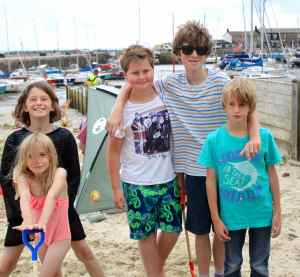 cousins on beach
