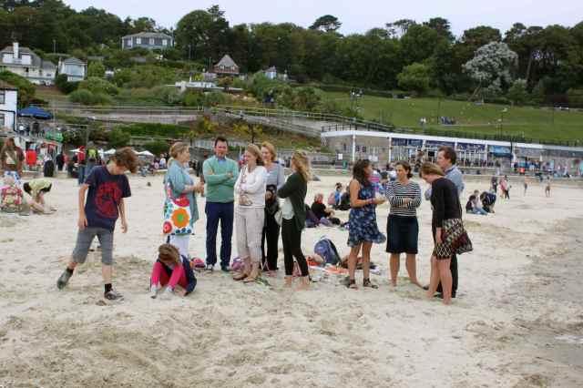 family on the beach 1