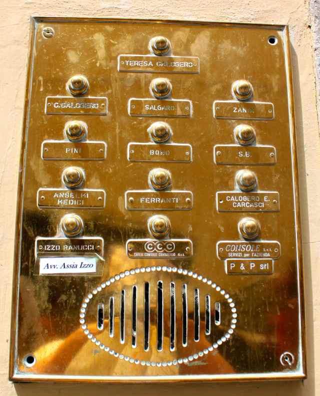 Firenze doorbells 3