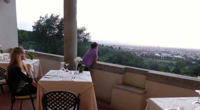 Firenze hotel restaurant view