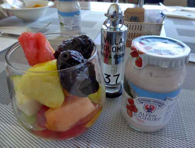 fruit and strawberry yogurt