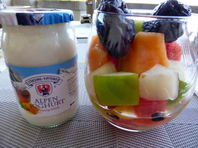 fruit and yogurt in Tolomei