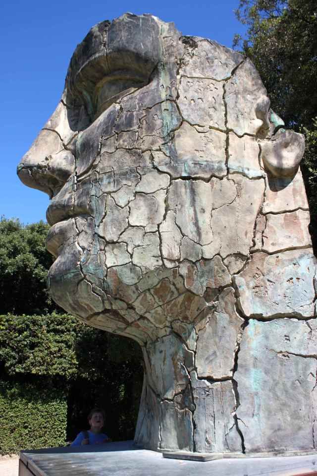 Huge head in Boboli