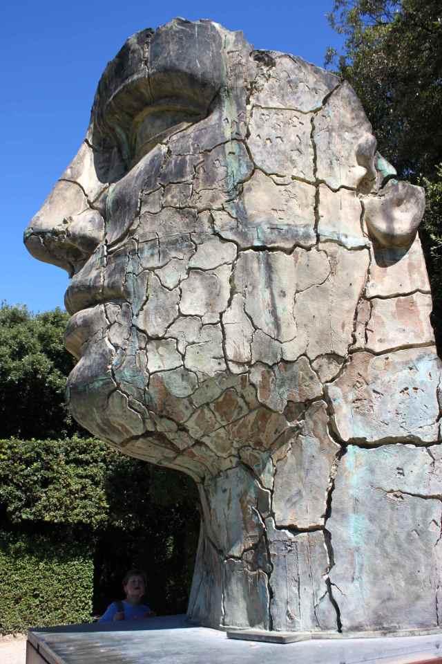 Huge head in Boboli