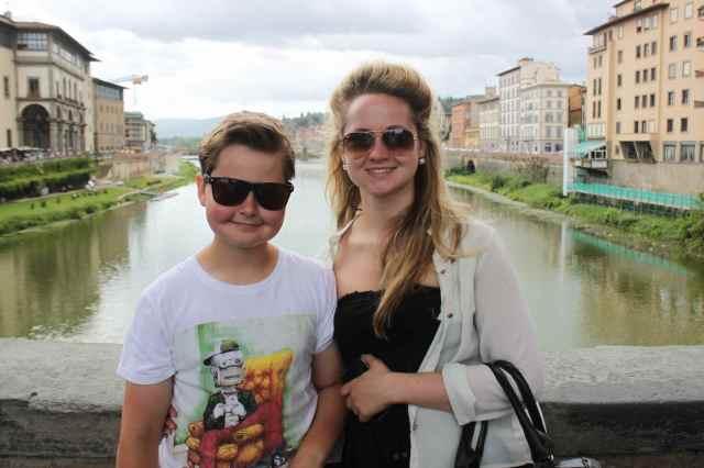 L and H on ponte Vecchio