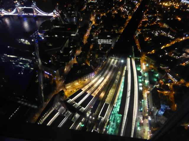 London Bridge train tracks from the Shard