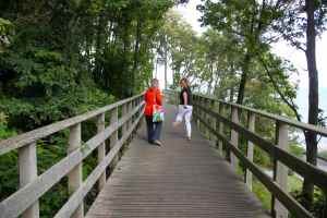 Lucy and Abi on bridge