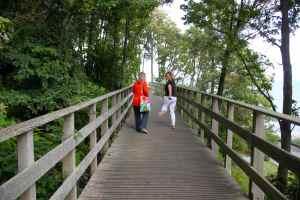 Lucy and Abi on bridge