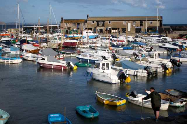 Lyme Regis harbour 11-8