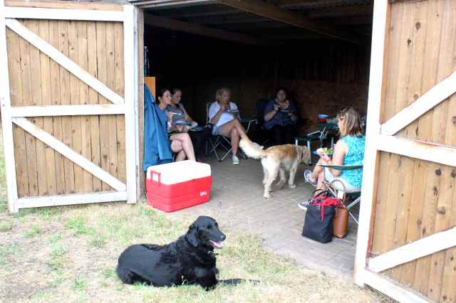 picnic in the barn