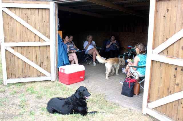 picnic in the barn
