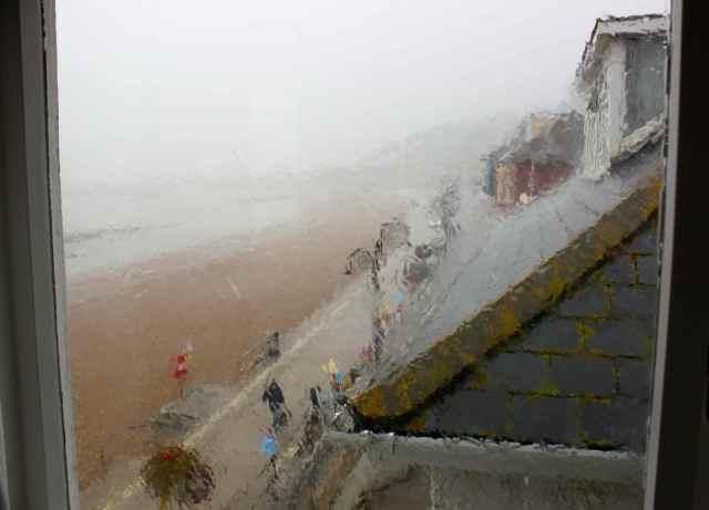 rain at Lyme Regis
