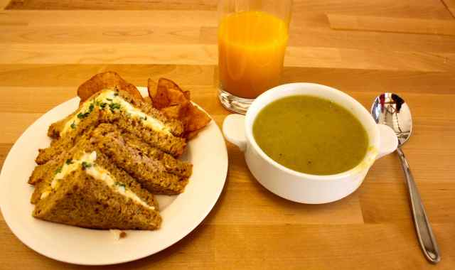 sandwiches and soup