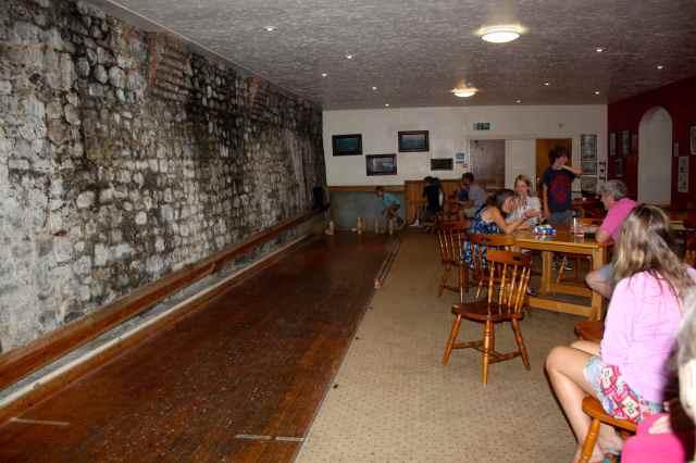 skittle alley at Pilot Inn
