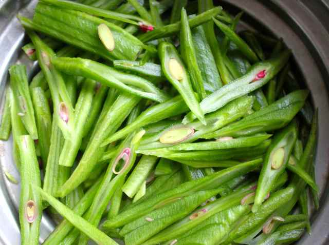 sliced runner beans
