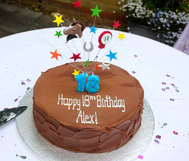 Alex 18th cake