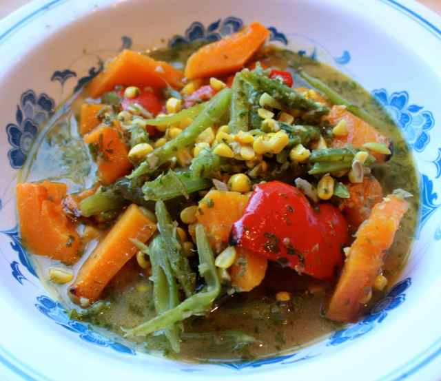 green Thai veg soup