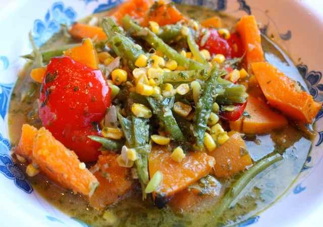 green thai vegetable soup