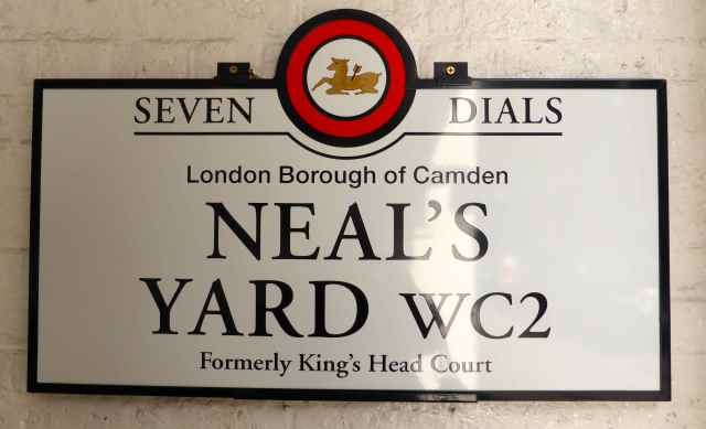 Neal's Yard sign