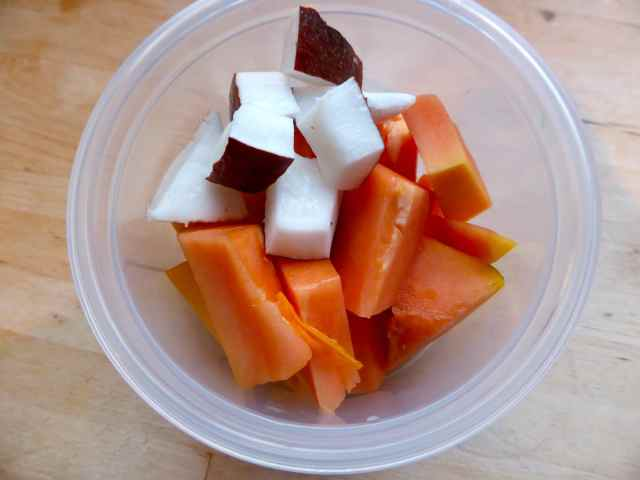 papaya and coconut
