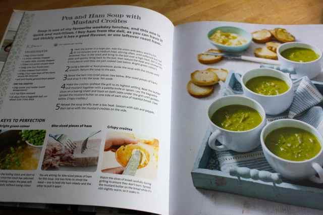 pea and ham soup in recipe book