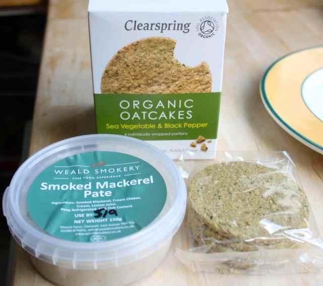 smoked mackerel pate and oatcakes
