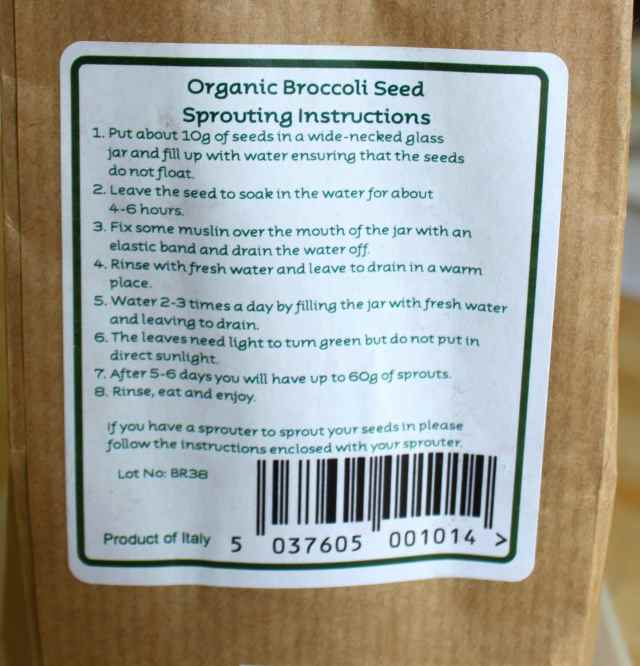 sprouting instructions