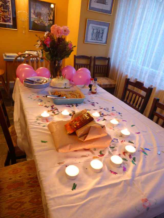 the birthday table