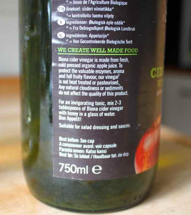 apple cider tonic