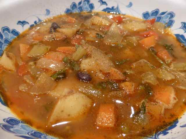 bean soup close up
