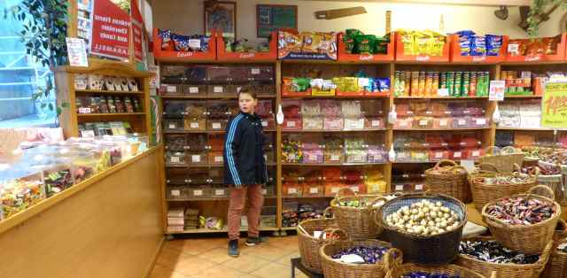H in Swedish sweet shop