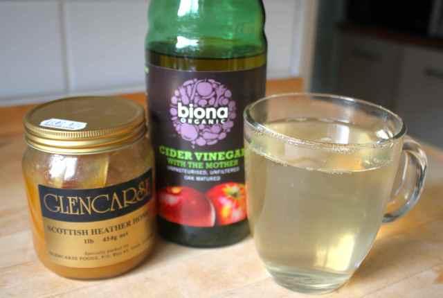 honey, vinegar and water