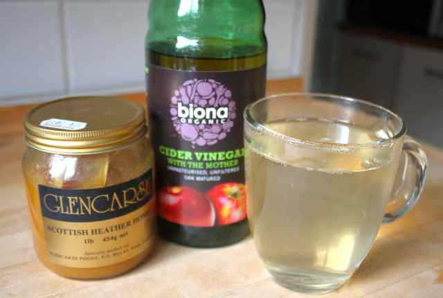 honey, vinegar and water