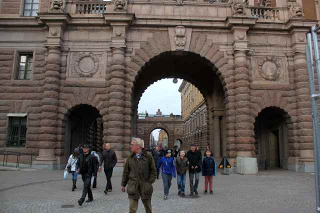 just inside Gamla Stan