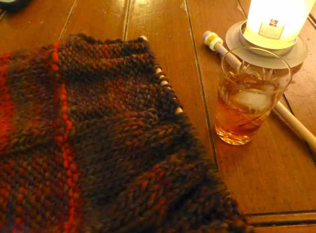 knitting and Amaretto