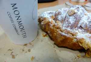 Monmouth almond croissant and coffee