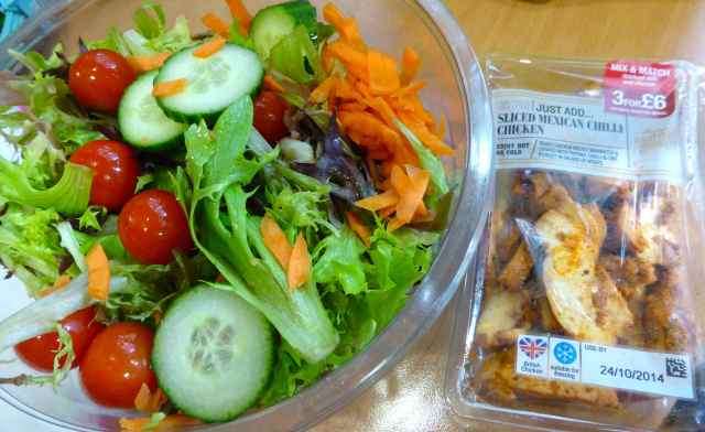 M&S salad and chicken