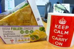 M&S sandwich and tea
