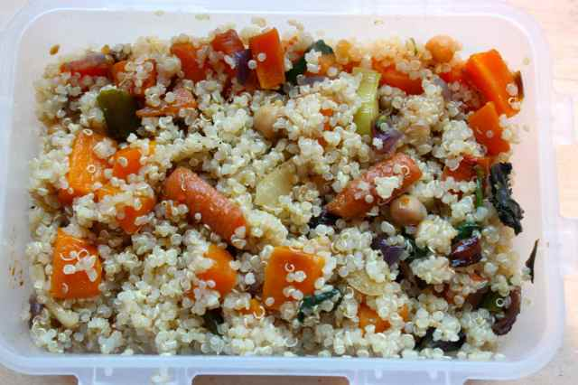 quinoa and roasted veg