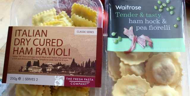 ravioli and fiorelli