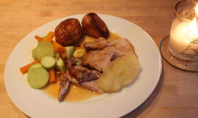 roast pork dinner 11-10-14